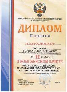 Всероссийский молодежный фестиваль спортивного туризма